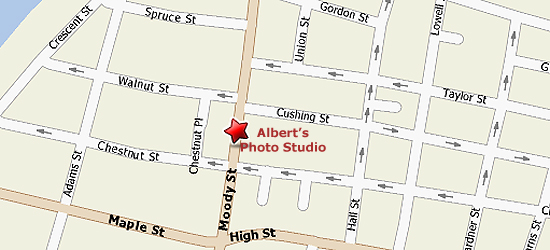 Map to Albert's Photo Studio.